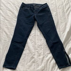 Loft Curvy Skinny Ankle jeans 26